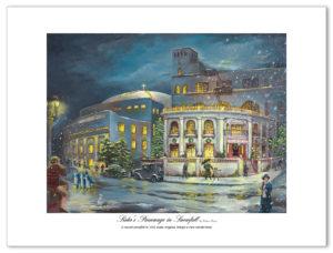 Sister's Parsonage in Snowfall by Robert Hunt